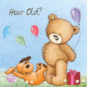 Birthday Bear - How Old?, Funny Birthday Card